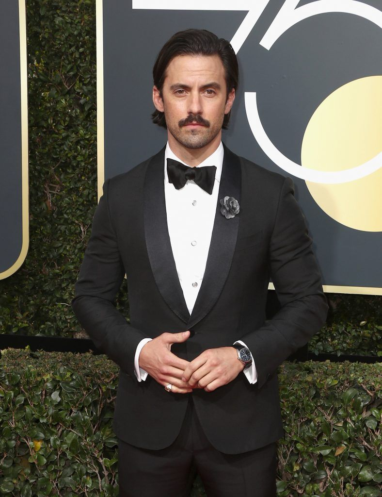 BEVERLY HILLS, CA - JANUARY 07:  Milo Ventimiglia attends The 75th Annual Golden Globe Awards at The Beverly Hilton Hotel on January 7, 2018 in Beverly Hills, California.  (Photo by Frederick M. Brown/Getty Images)