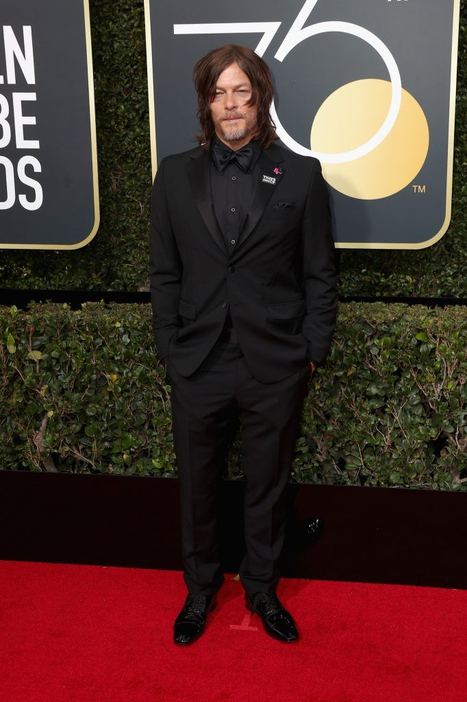 BEVERLY HILLS, CA - JANUARY 07:  Norman Reedus attends The 75th Annual Golden Globe Awards at The Beverly Hilton Hotel on January 7, 2018 in Beverly Hills, California.  (Photo by Frederick M. Brown/Getty Images)