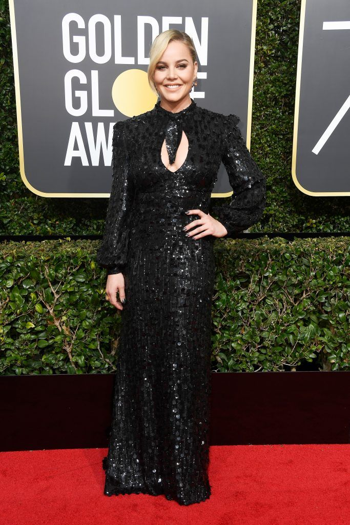 BEVERLY HILLS, CA - JANUARY 07:  Actor Abbie Cornish attends The 75th Annual Golden Globe Awards at The Beverly Hilton Hotel on January 7, 2018 in Beverly Hills, California.  (Photo by Frazer Harrison/Getty Images)