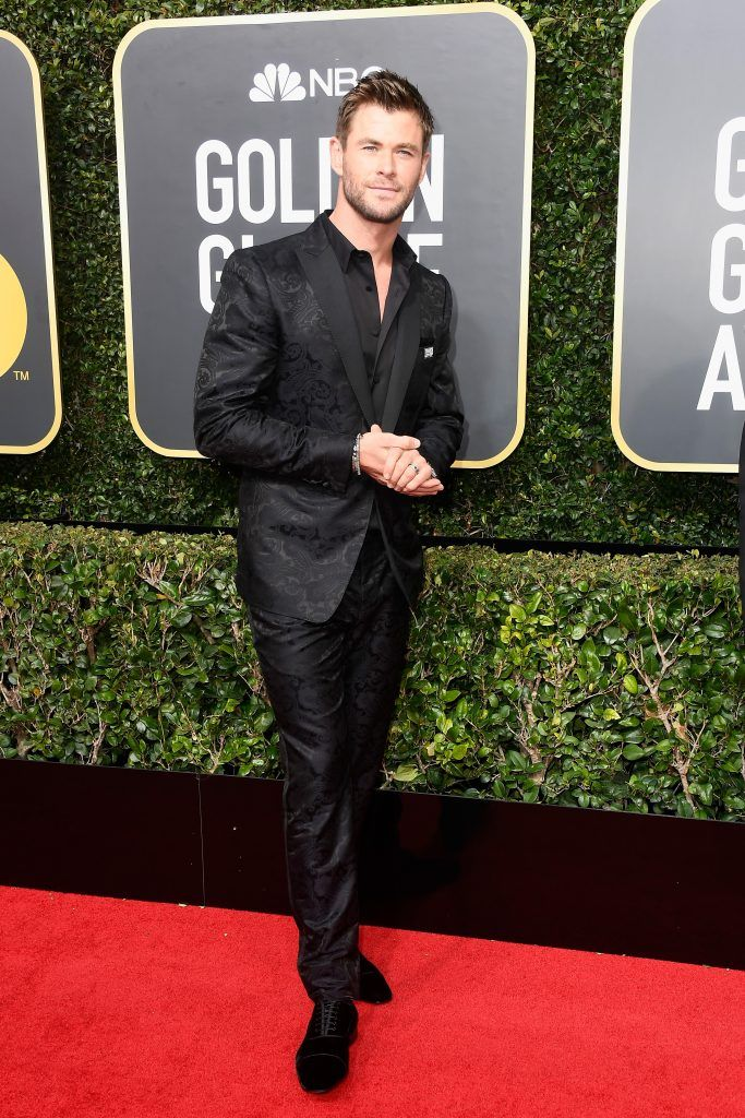 BEVERLY HILLS, CA - JANUARY 07:  Actor Chris Hemsworth attends The 75th Annual Golden Globe Awards at The Beverly Hilton Hotel on January 7, 2018 in Beverly Hills, California.  (Photo by Frazer Harrison/Getty Images)