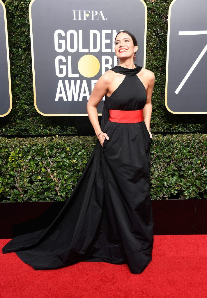 BEVERLY HILLS, CA - JANUARY 07:  Actor Mandy Moore attends The 75th Annual Golden Globe Awards at The Beverly Hilton Hotel on January 7, 2018 in Beverly Hills, California.  (Photo by Frazer Harrison/Getty Images)