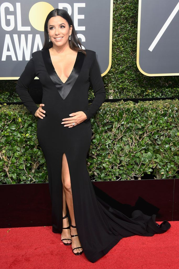 BEVERLY HILLS, CA - JANUARY 07:  Eva Longoria attends The 75th Annual Golden Globe Awards at The Beverly Hilton Hotel on January 7, 2018 in Beverly Hills, California.  (Photo by Frazer Harrison/Getty Images)
