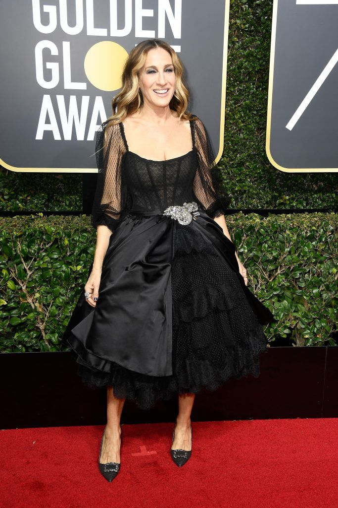 BEVERLY HILLS, CA - JANUARY 07:  Sarah Jessica Parker attends The 75th Annual Golden Globe Awards at The Beverly Hilton Hotel on January 7, 2018 in Beverly Hills, California.  (Photo by Frazer Harrison/Getty Images)