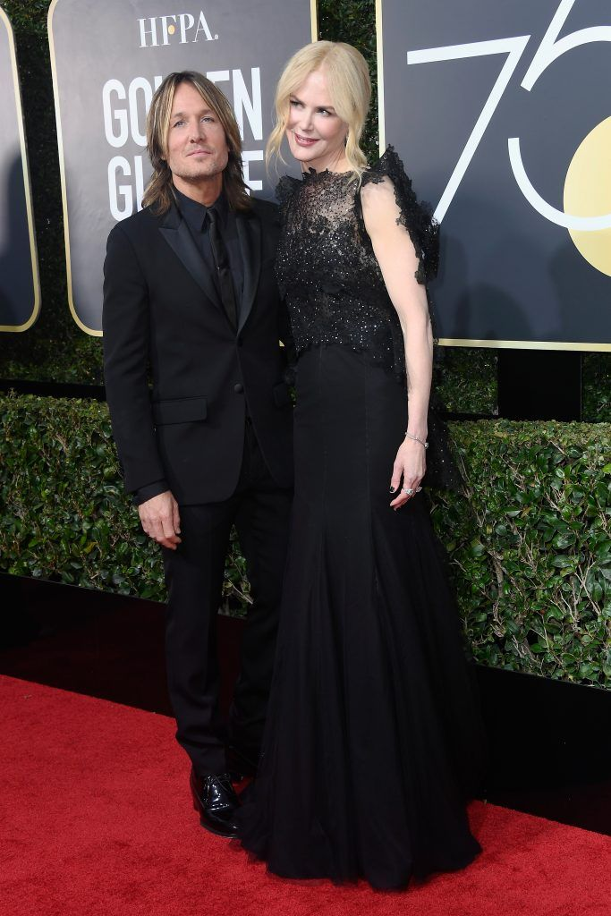 BEVERLY HILLS, CA - JANUARY 07: Keith Urban and Nicole Kidman attends The 75th Annual Golden Globe Awards at The Beverly Hilton Hotel on January 7, 2018 in Beverly Hills, California.  (Photo by Frazer Harrison/Getty Images)