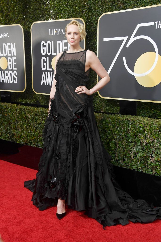 BEVERLY HILLS, CA - JANUARY 07:  Actor Gwendoline Christie attends The 75th Annual Golden Globe Awards at The Beverly Hilton Hotel on January 7, 2018 in Beverly Hills, California.  (Photo by Frazer Harrison/Getty Images)