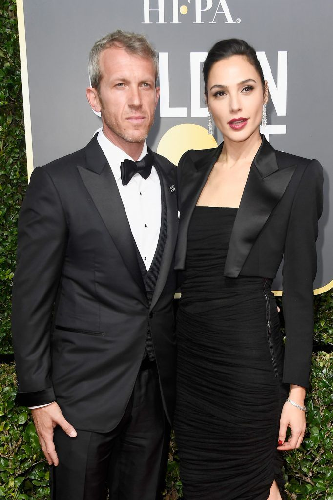 BEVERLY HILLS, CA - JANUARY 07:  Yaron Versano (L) and actor Gal Gadot attend The 75th Annual Golden Globe Awards at The Beverly Hilton Hotel on January 7, 2018 in Beverly Hills, California.  (Photo by Frazer Harrison/Getty Images)