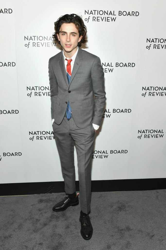 Actor Timothée Chalamet attends the 2018 The National Board Of Review Annual Awards Gala at Cipriani 42nd Street on January 9, 2018 in New York City.  (Photo by Mike Coppola/Getty Images)
