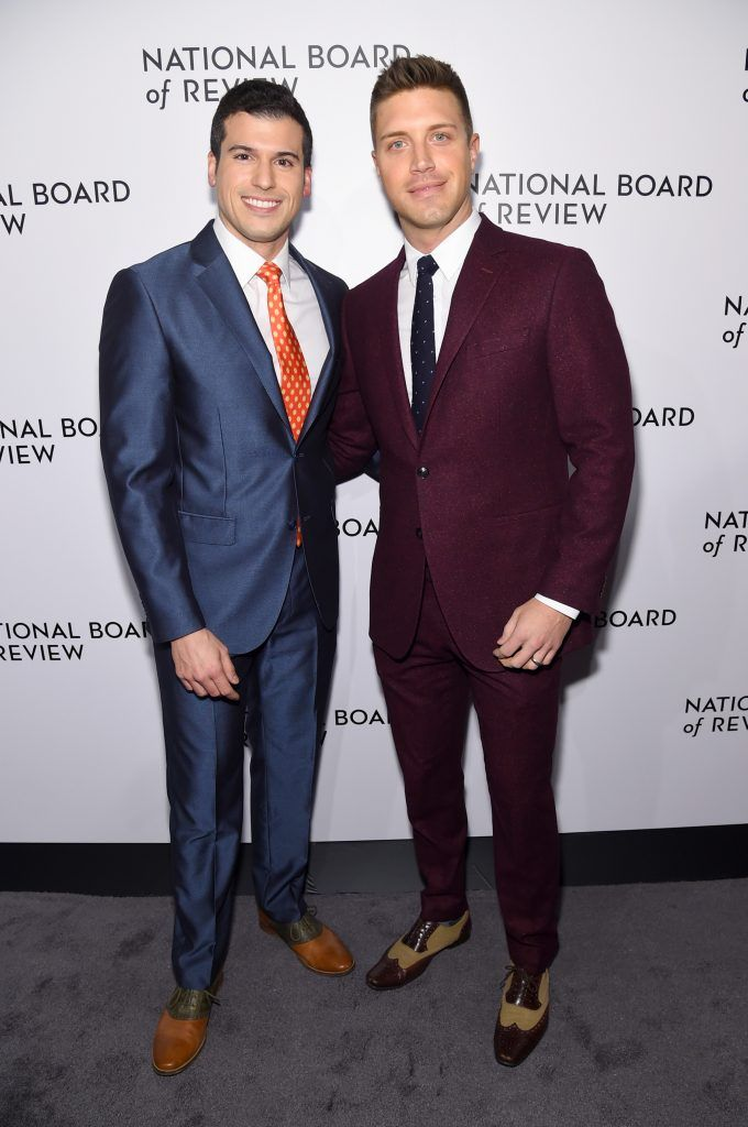 Journalist Gio Benitez (L) and  Tommy DiDario attend the The National Board Of Review Annual Awards Gala at Cipriani 42nd Street on January 9, 2018 in New York City.  (Photo by Jamie McCarthy/Getty Images for National Board of Review)