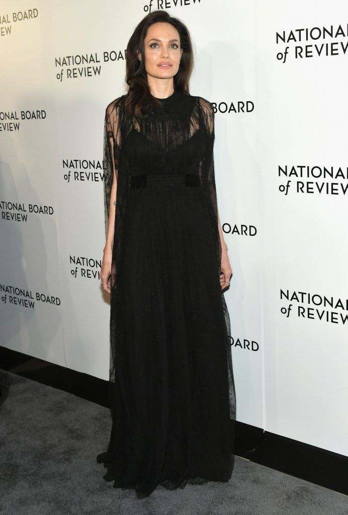 Angelina Jolie attends the 2018 The National Board Of Review Annual Awards Gala at Cipriani 42nd Street on January 9, 2018 in New York City.  (Photo by Mike Coppola/Getty Images)