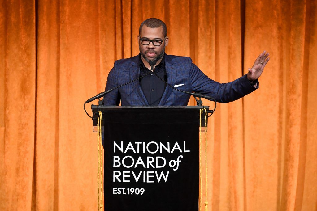 Director Jordan Peele speaks at the National Board of Review Annual Awards Gala at Cipriani 42nd Street on January 9, 2018 in New York City.  (Photo by Dimitrios Kambouris/Getty Images for National Board of Review)
