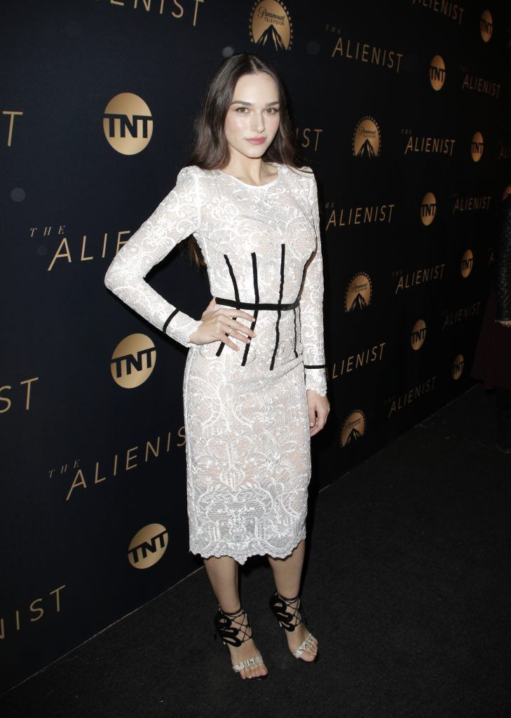 Emanuela Postacchini attends the premiere of TNT's 'The Alienist' on January 11, 2018 in Los Angeles, California.  (Photo by Tibrina Hobson/Getty Images)