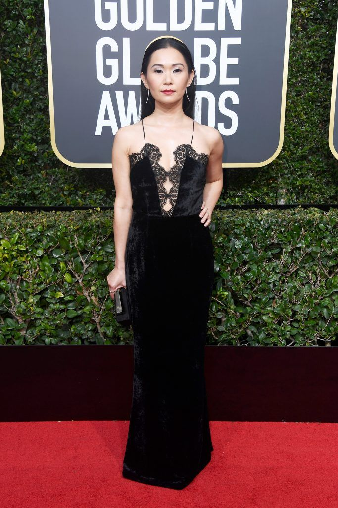 Hong Chau attends The 75th Annual Golden Globe Awards at The Beverly Hilton Hotel on January 7, 2018 in Beverly Hills, California.  (Photo by Frazer Harrison/Getty Images)