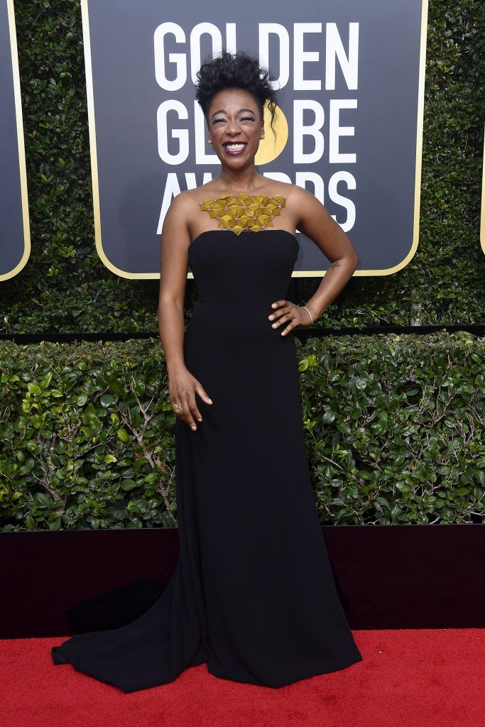Samira Wiley attends The 75th Annual Golden Globe Awards at The Beverly Hilton Hotel on January 7, 2018 in Beverly Hills, California.  (Photo by Frazer Harrison/Getty Images)