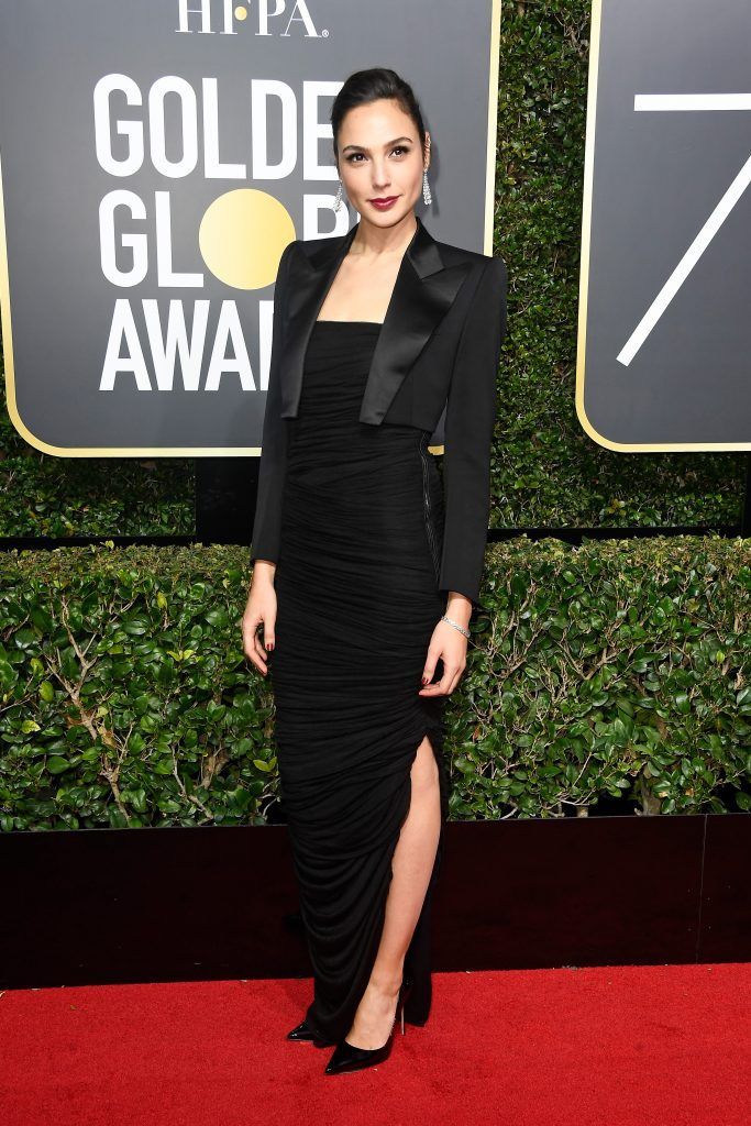 Gal Gadot attends The 75th Annual Golden Globe Awards at The Beverly Hilton Hotel on January 7, 2018 in Beverly Hills, California.  (Photo by Frazer Harrison/Getty Images)