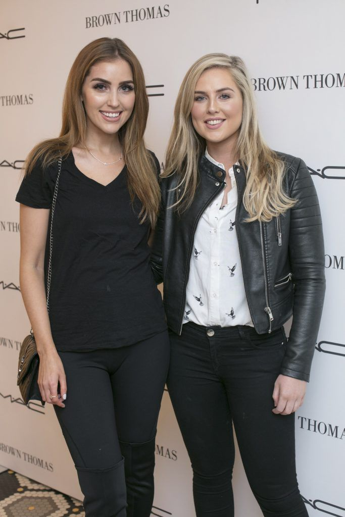 Tara Anderson & Amy Connolly pictured at The Restaurant at Brown Thomas where M.A.C Cosmetics celebrated 20 years of colour, creativity and culture at Brown Thomas Dublin. Photo: Anthony Woods.
