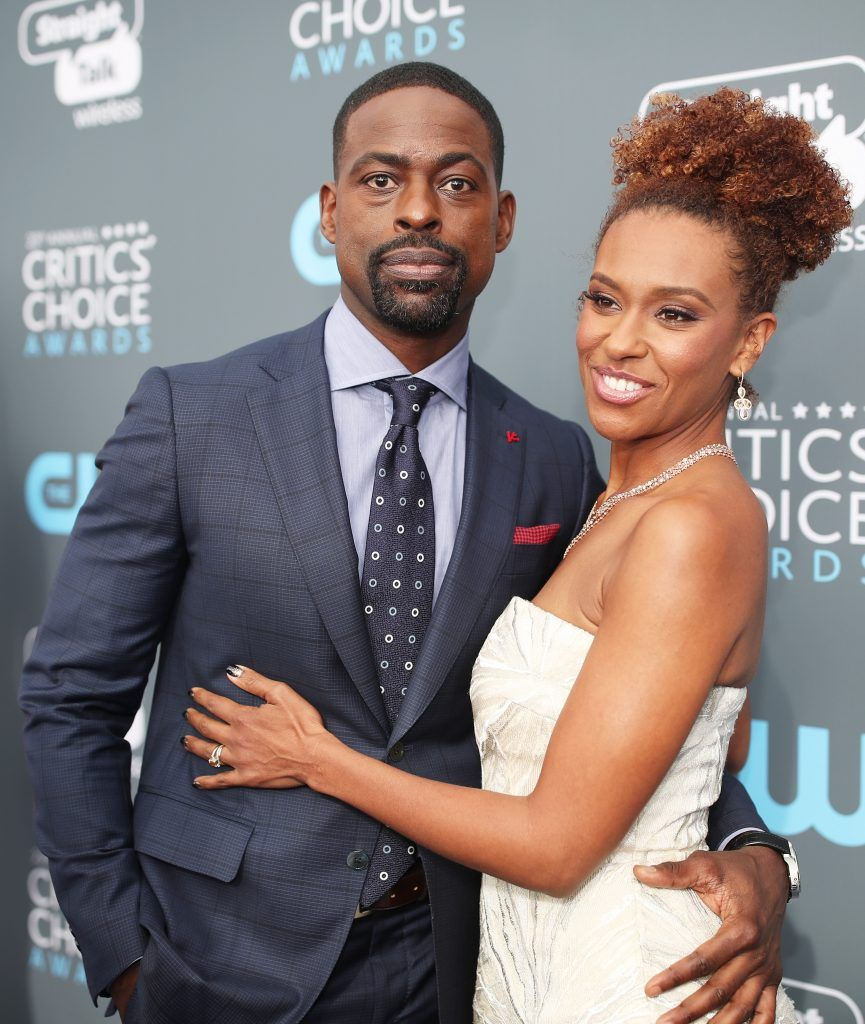 SANTA MONICA, CA - JANUARY 11:  Actors Sterling K. Brown and Ryan Michelle Bathe attend The 23rd Annual Critics' Choice Awards at Barker Hangar on January 11, 2018 in Santa Monica, California.  (Photo by Christopher Polk/Getty Images for The Critics' Choice Awards  )