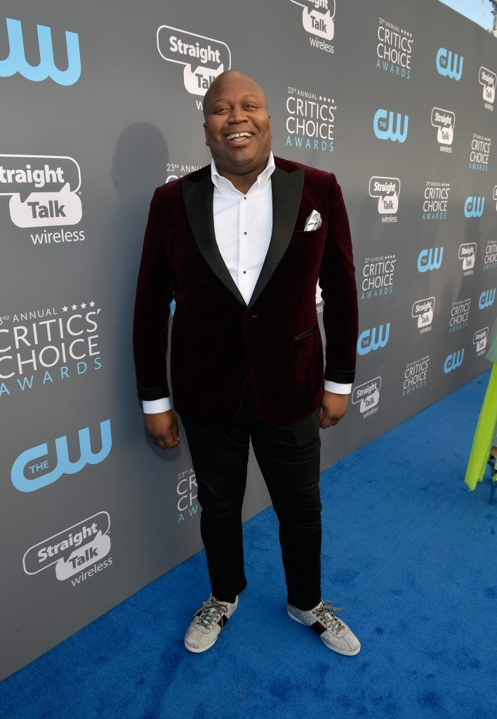 SANTA MONICA, CA - JANUARY 11:  Actor Tituss Burgess attends The 23rd Annual Critics' Choice Awards at Barker Hangar on January 11, 2018 in Santa Monica, California.  (Photo by Matt Winkelmeyer/Getty Images for The Critics' Choice Awards  )