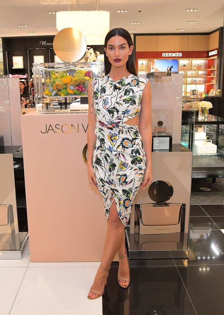 Lily Aldridge attends a personal appearance with Jason Wu at Bloomingdale's Century City on January 18, 2018 in Century City, California.  (Photo by Charley Gallay/Getty Images for Bloomingdale's Century City)