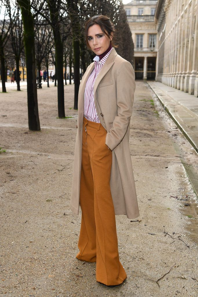 Victoria Beckham attends the Louis Vuitton Menswear Fall/Winter 2018-2019 show as part of Paris Fashion Week on January 18, 2018 in Paris, France.  (Photo by Pascal Le Segretain/Getty Images)