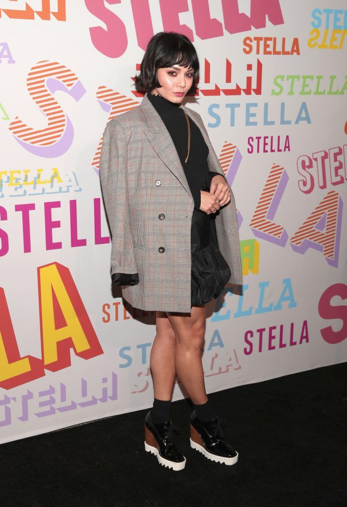 Vanessa Hudgens attends Stella McCartney's Autumn 2018 Collection Launch on January 16, 2018 in Los Angeles, California.  (Photo by Christopher Polk/Getty Images)