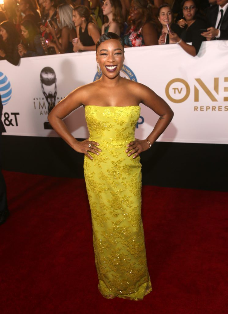 Samira Wiley attends the 49th NAACP Image Awards at Pasadena Civic Auditorium on January 15, 2018 in Pasadena, California.  (Photo by Jesse Grant/Getty Images for NAACP )