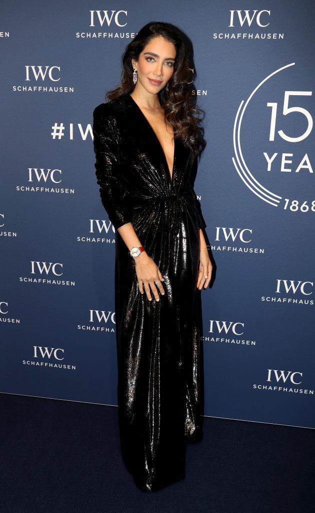 Jessica Kahawaty attends the IWC Schaffhausen Gala celebrating the Maisonis 150th anniversary on January 16, 2018 in Geneva, Switzerland. #IWC150  (Photo by Chris Jackson/Getty Images for IWC)