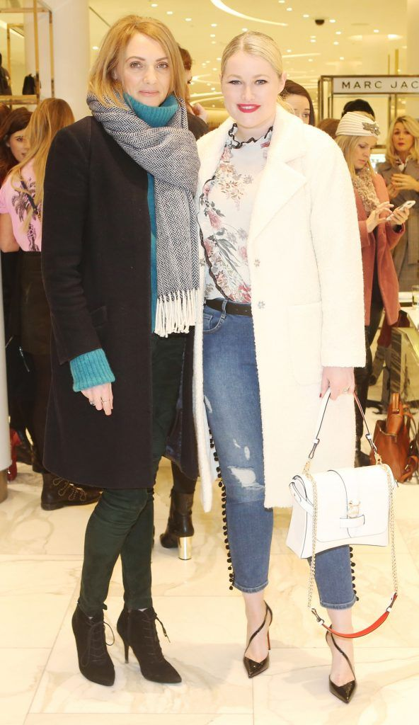 Ingrid Hoey and Lorna Weightman in Brown Thomas Dublin for the S/S 2018 International Designer Collections. Photo: Leon Farrell/Photocall Ireland