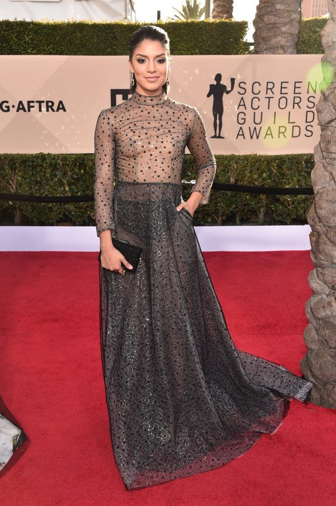 LOS ANGELES, CA - JANUARY 21:  Actor Shakira Barrera attends the 24th Annual Screen Actors Guild Awards at The Shrine Auditorium on January 21, 2018 in Los Angeles, California. 27522_006  (Photo by Alberto E. Rodriguez/Getty Images)