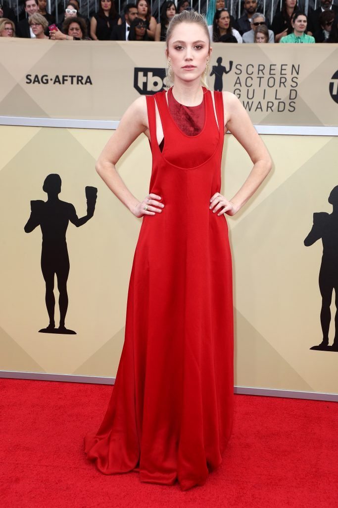 LOS ANGELES, CA - JANUARY 21:  Actor Maika Monroe attends the 24th Annual Screen Actors Guild Awards at The Shrine Auditorium on January 21, 2018 in Los Angeles, California. 27522_017  (Photo by Frederick M. Brown/Getty Images)