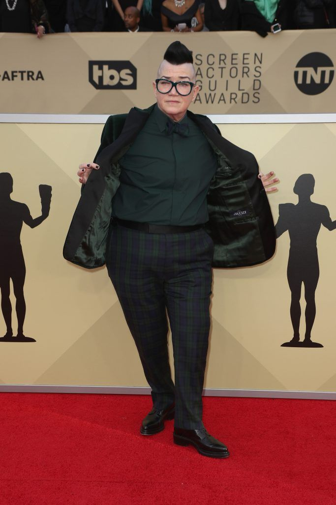 LOS ANGELES, CA - JANUARY 21:  Actor Lea DeLaria attends the 24th Annual Screen Actors Guild Awards at The Shrine Auditorium on January 21, 2018 in Los Angeles, California. 27522_017  (Photo by Frederick M. Brown/Getty Images)