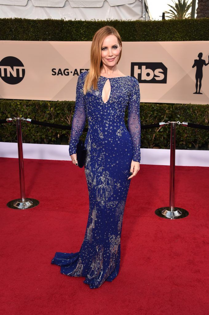 LOS ANGELES, CA - JANUARY 21:  NUARY 21:  Actor Leslie Mann attends the 24th Annual Screen Actors Guild Awards at The Shrine Auditorium on January 21, 2018 in Los Angeles, California. 27522_006  (Photo by Alberto E. Rodriguez/Getty Images)