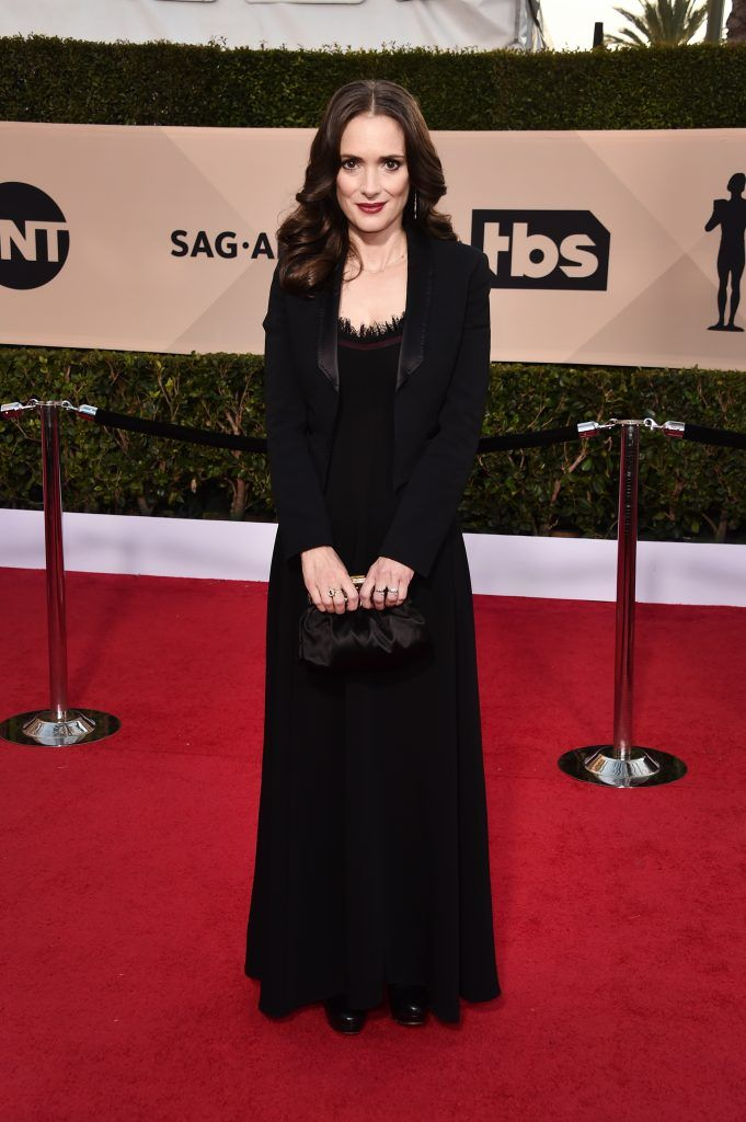 LOS ANGELES, CA - JANUARY 21:  Actor Winona Ryder attends the 24th Annual Screen Actors Guild Awards at The Shrine Auditorium on January 21, 2018 in Los Angeles, California. 27522_006  (Photo by Alberto E. Rodriguez/Getty Images)