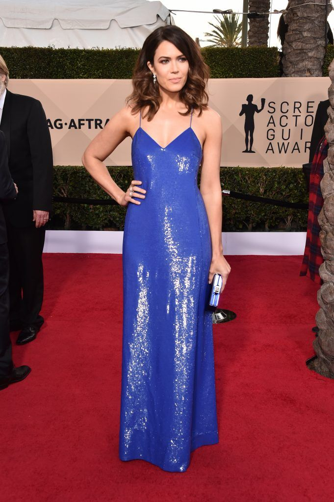 LOS ANGELES, CA - JANUARY 21:  Actor Mandy Moore attends the 24th Annual Screen Actors Guild Awards at The Shrine Auditorium on January 21, 2018 in Los Angeles, California. 27522_006  (Photo by Alberto E. Rodriguez/Getty Images)