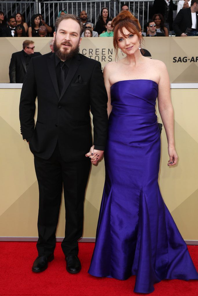 LOS ANGELES, CA - JANUARY 21:  Actor Matt Peters (L) and writer Susan Burke attend the 24th Annual Screen Actors Guild Awards at The Shrine Auditorium on January 21, 2018 in Los Angeles, California. 27522_017  (Photo by Frederick M. Brown/Getty Images)