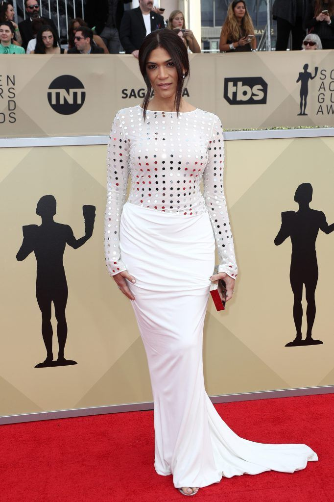 LOS ANGELES, CA - JANUARY 21:  Actor Laura Gomez attends the 24th Annual Screen Actors Guild Awards at The Shrine Auditorium on January 21, 2018 in Los Angeles, California. 27522_017  (Photo by Frederick M. Brown/Getty Images)