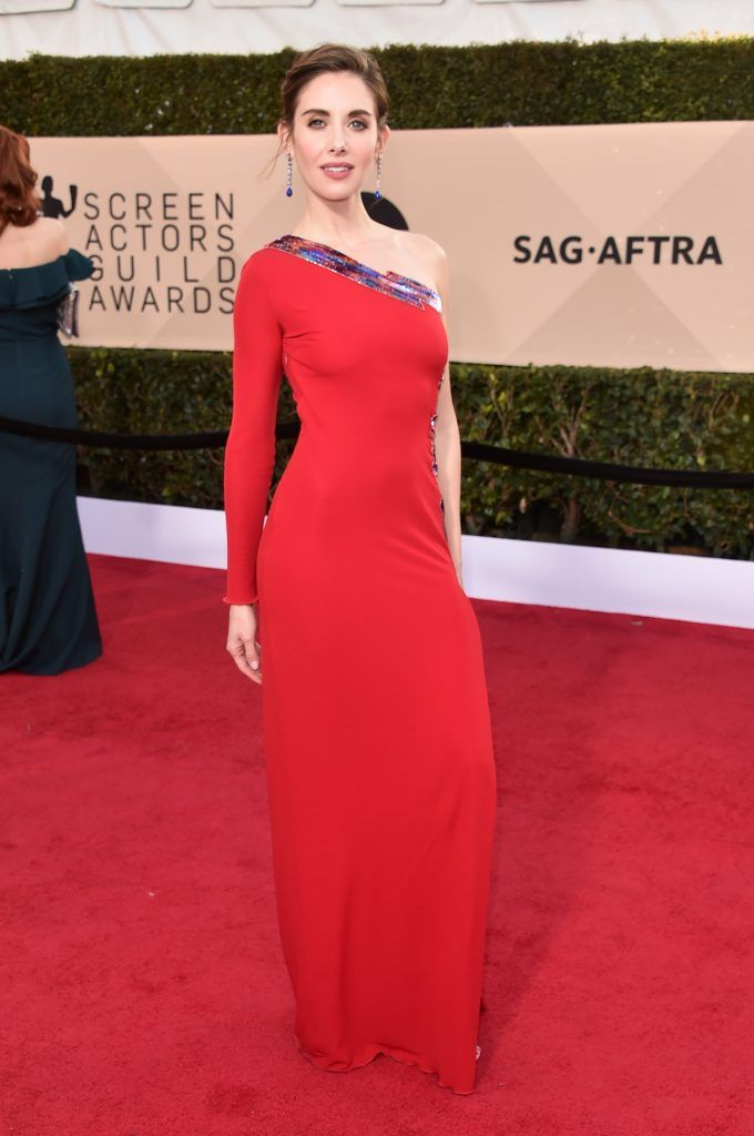 LOS ANGELES, CA - JANUARY 21:  Actor Alison Brie attends the 24th Annual Screen Actors Guild Awards at The Shrine Auditorium on January 21, 2018 in Los Angeles, California. 27522_006  (Photo by Alberto E. Rodriguez/Getty Images)