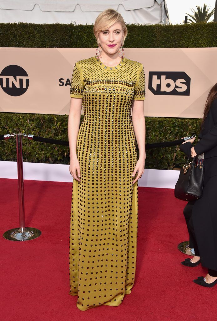 LOS ANGELES, CA - JANUARY 21:  Filmmaker Greta Gerwig attends the 24th Annual Screen Actors Guild Awards at The Shrine Auditorium on January 21, 2018 in Los Angeles, California. 27522_006  (Photo by Alberto E. Rodriguez/Getty Images)