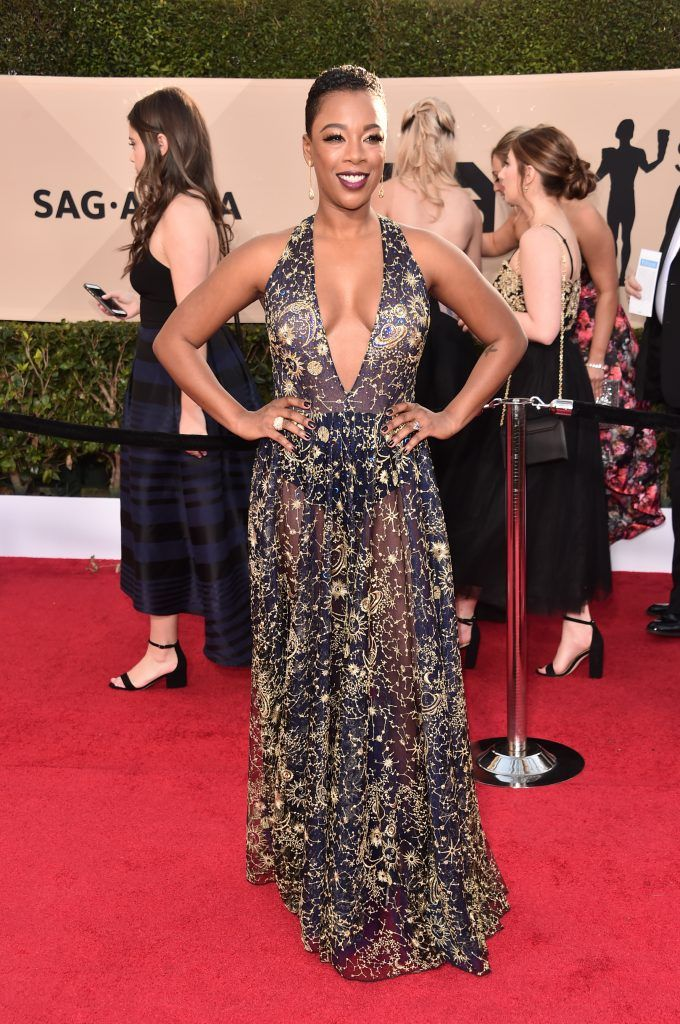 LOS ANGELES, CA - JANUARY 21:  Actor Samira Wiley attends the 24th Annual Screen Actors Guild Awards at The Shrine Auditorium on January 21, 2018 in Los Angeles, California. 27522_006  (Photo by Alberto E. Rodriguez/Getty Images)