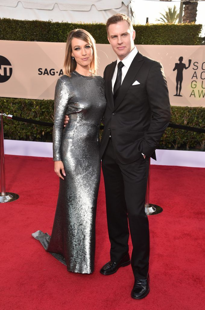 LOS ANGELES, CA - JANUARY 21:  Actors Natalie Zea (L) and Travis Schuldt attend the 24th Annual Screen Actors Guild Awards at The Shrine Auditorium on January 21, 2018 in Los Angeles, California. 27522_006  (Photo by Alberto E. Rodriguez/Getty Images)