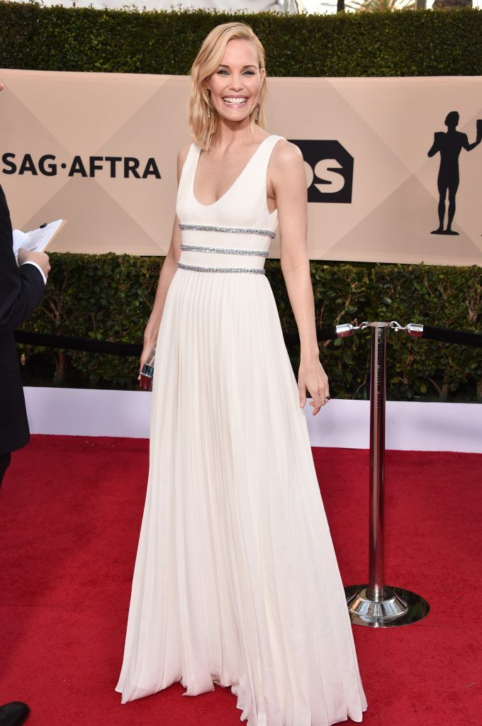 LOS ANGELES, CA - JANUARY 21:  Actor Leslie Bibb attends the 24th Annual Screen Actors Guild Awards at The Shrine Auditorium on January 21, 2018 in Los Angeles, California. 27522_006  (Photo by Alberto E. Rodriguez/Getty Images)