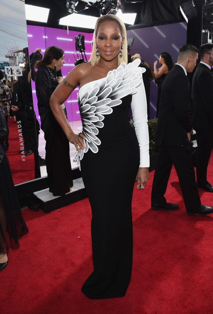 LOS ANGELES, CA - JANUARY 21:  Actor/recording artist Mary J. Blige attends the 24th Annual Screen ActorsGuild Awards at The Shrine Auditorium on January 21, 2018 in Los Angeles, California.  (Photo by Kevork Djansezian/Getty Images)