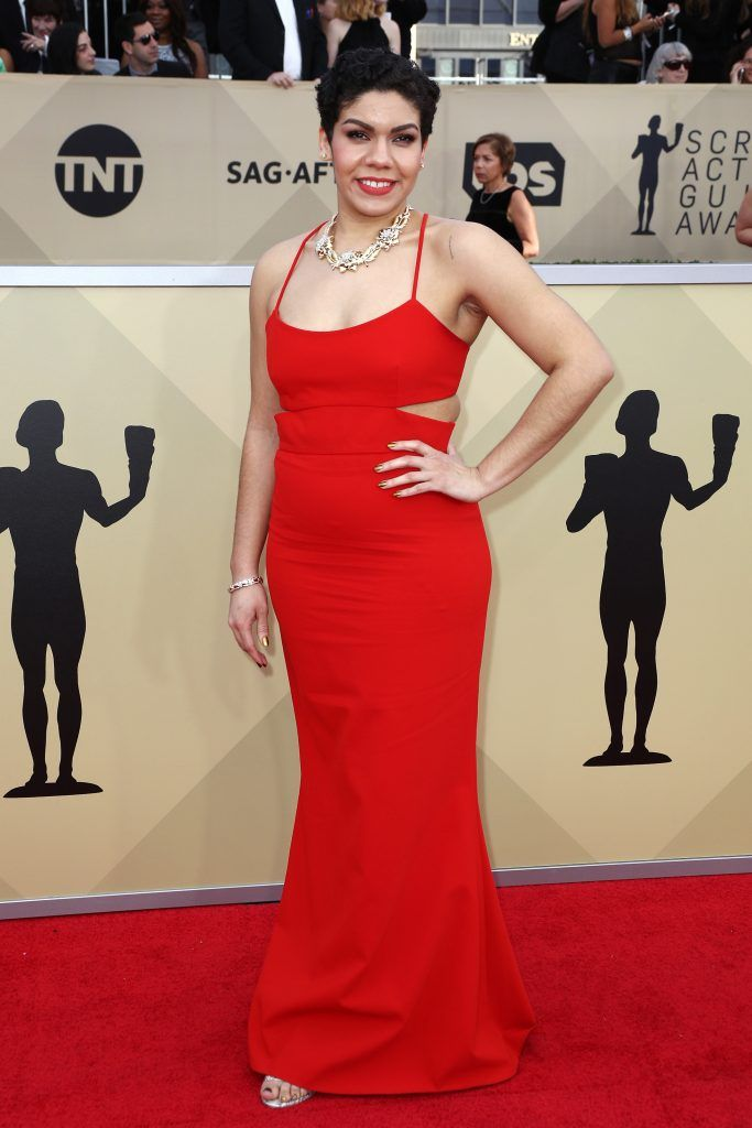 LOS ANGELES, CA - JANUARY 21:  Actor Daniella De Jesus attends the 24th Annual Screen Actors Guild Awards at The Shrine Auditorium on January 21, 2018 in Los Angeles, California. 27522_017  (Photo by Frederick M. Brown/Getty Images)
