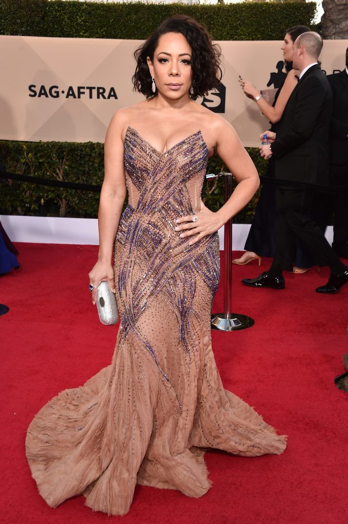 LOS ANGELES, CA - JANUARY 21: Actor Selenis Leyva attends the 24th Annual Screen Actors Guild Awards at The Shrine Auditorium on January 21, 2018 in Los Angeles, California. 27522_006  (Photo by Alberto E. Rodriguez/Getty Images)