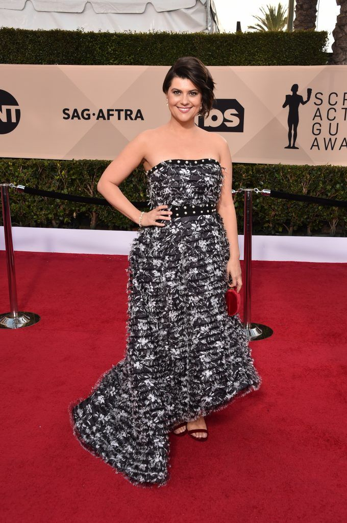 LOS ANGELES, CA - JANUARY 21:  Actor Rebekka Johnson attends the 24th Annual Screen Actors Guild Awards at The Shrine Auditorium on January 21, 2018 in Los Angeles, California. 27522_006  (Photo by Alberto E. Rodriguez/Getty Images)