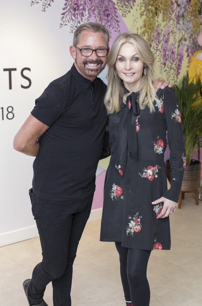 Angie Dromgoole & Stephen Kelly from Zeba at Arnotts pictured at the launch of the Arnotts Spring/Summer '18 collection. Photo: Anthony Woods