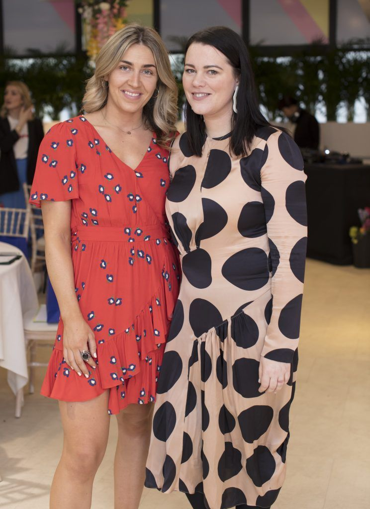 Georgia McGurk & Corina Gaffey pictured at the launch of the Arnotts Spring/Summer '18 collection. Photo: Anthony Woods