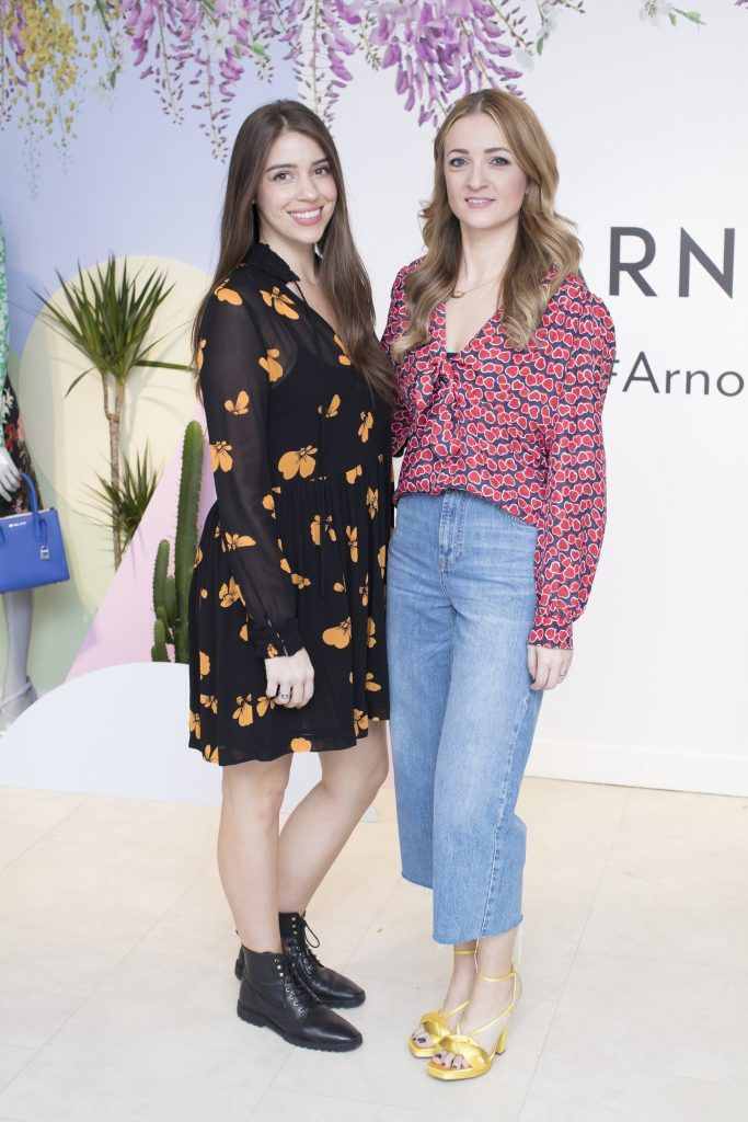 Kelli Dryden Ryan & Alison Daly pictured at the launch of the Arnotts Spring/Summer '18 collection. Photo: Anthony Woods