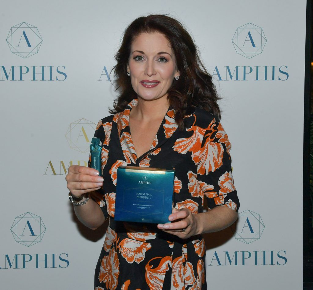 Roz Martin at the launch of Amphis beauty, an Irish luxury range of marine nutricosmetics which have been scientifically developed to offer a more comprehensive and holistic approach to maintaining skin, bone health, hair and nails. Pictures: Jerry McCarthy
