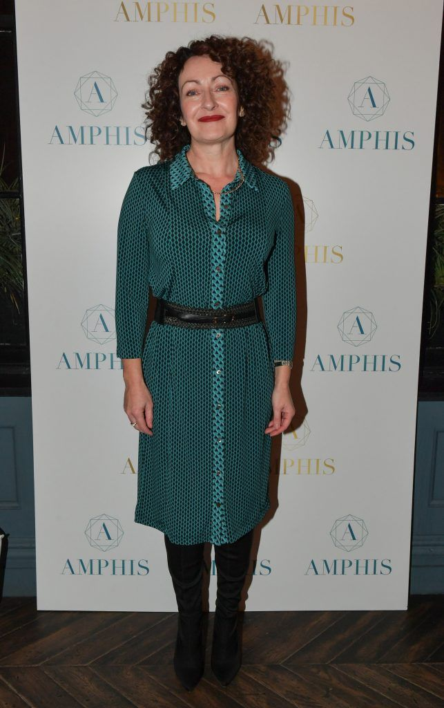 Maura O'Toole at the launch of Amphis beauty, an Irish luxury range of marine nutricosmetics which have been scientifically developed to offer a more comprehensive and holistic approach to maintaining skin, bone health, hair and nails. Pictures: Jerry McCarthy