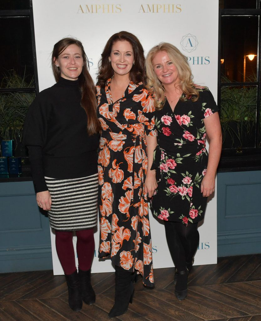 Aisling Martin, Roz Martin and Fiona Martin at the launch of Amphis beauty, an Irish luxury range of marine nutricosmetics which have been scientifically developed to offer a more comprehensive and holistic approach to maintaining skin, bone health, hair and nails. Pictures: Jerry McCarthy